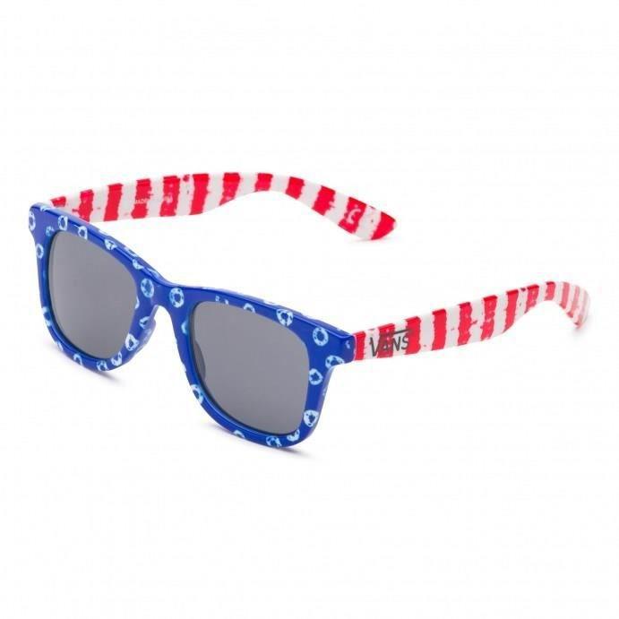 VANS Lunette de soleil Janelle Hipster - Mixte - Rouge et bleu