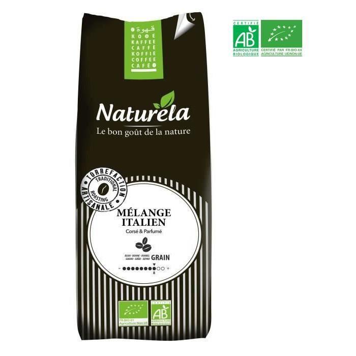NATURELA Café en grain - Mélange Italien - BIO - 500 g