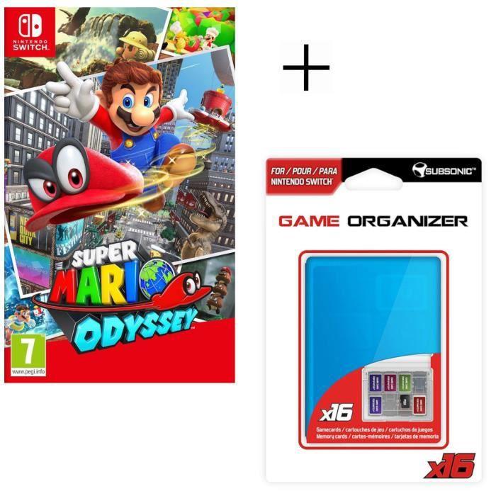 Super Mario Odyssey Jeu Switch + Boitier de rangement pour jeux et pour carte SD