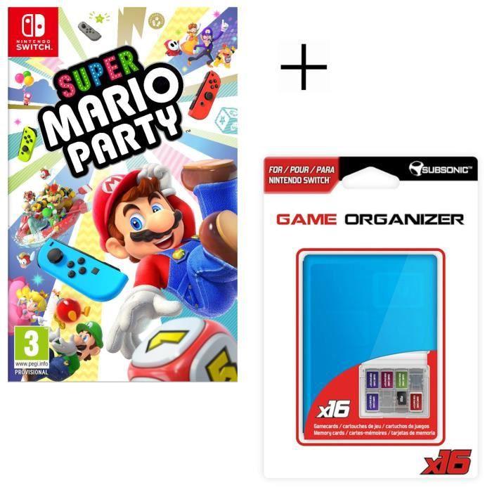 Super Mario Party Jeu Switch + Boitier de rangement pour jeux et pour carte SD