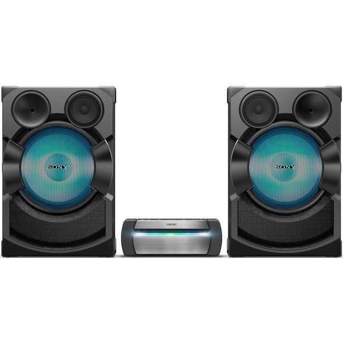 SONY SHAKEX70PIEU Système audio high-power avec lecteur DVD - Bluetooth - Fonctions Karaoké - Effets DJ