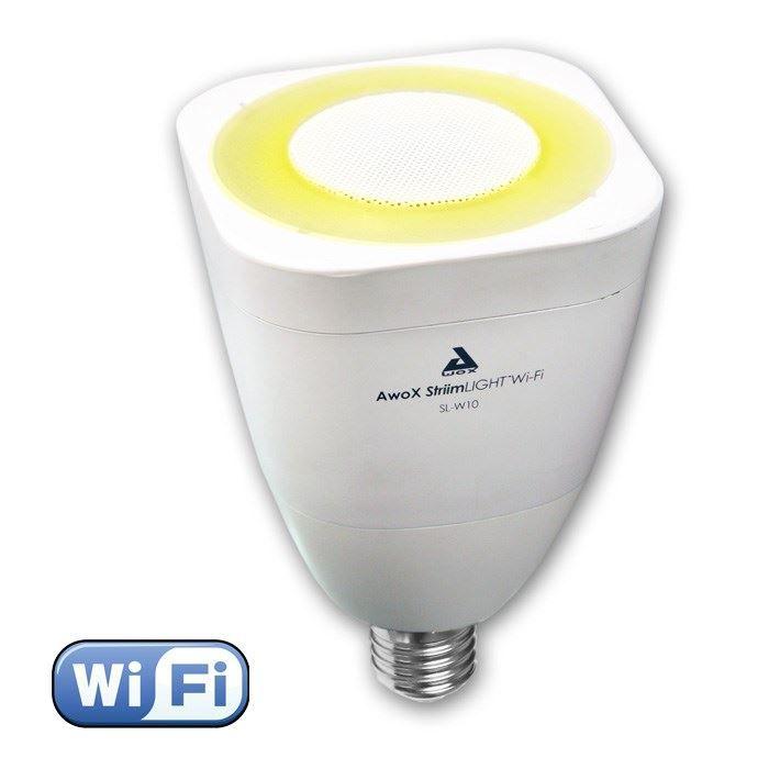 AWOX LIGHT Ampoule LED E27 WiFi son et lumière avec enceinte intégrée