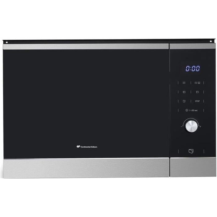 CONTINENTAL EDISON Micro Ondes Gril -CEMO25GINE - Inox encastrable - Noir