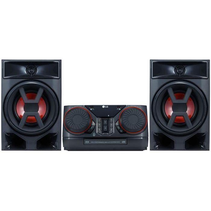 LG CK43 Mini chaine Hi-Fi Bluetooth et effet DJ - Noir