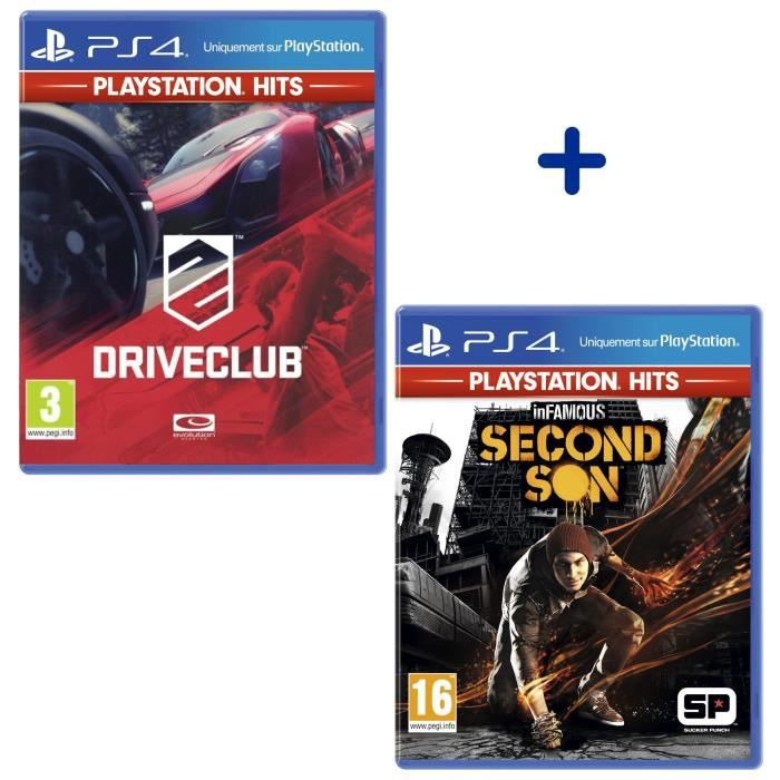 Pack 2 Jeux PS4 PlayStation Hits : The Last of Us Remastered + InFamous Second Son