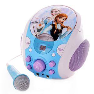 LA REINE DES NEIGES Karaoké Portable - Lecteur CD + Micro enfant