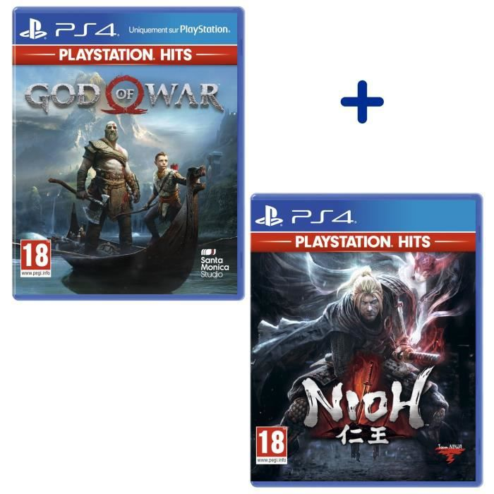 Pack 2 Jeux PS4 PlayStation Hits : God of War + Nioh