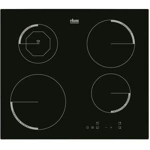 FAURE F6204IOK Table de cuisson Induction - 4 zones - 6600W - L59 x P52cm - Rev?tement verre - Noir