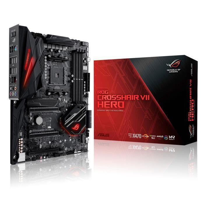 ASUS Carte Mère ROG CROSSHAIR VII HERO - Socket AMD AM4
