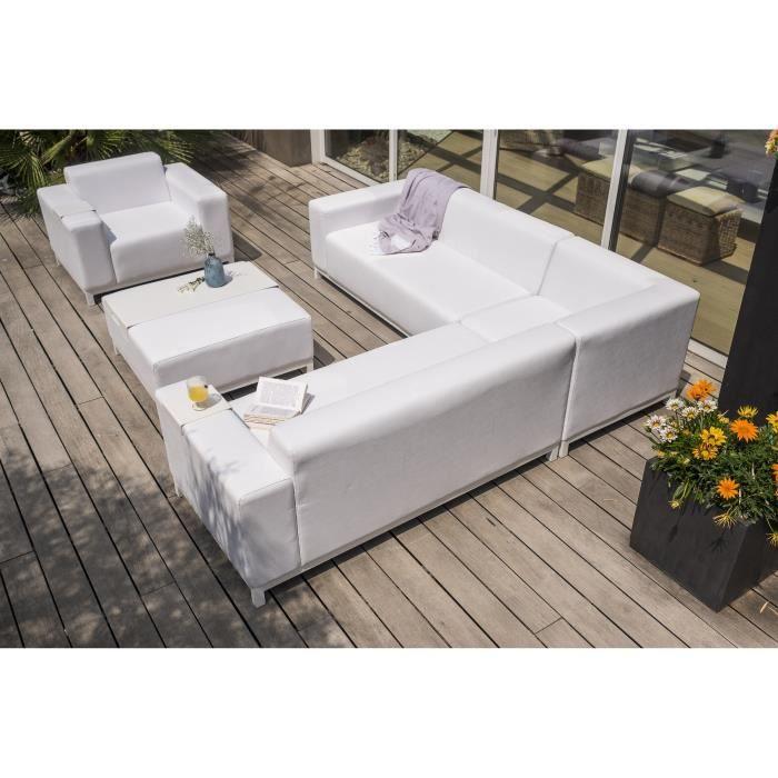 Dcb garden salon de jardin dubai 68 places en polyurethanes blanc