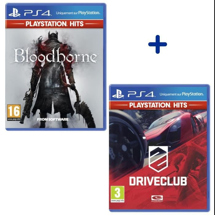 Pack 2 Jeux PS4 PlayStation Hits : The Last of Us Remastered + DriveClub