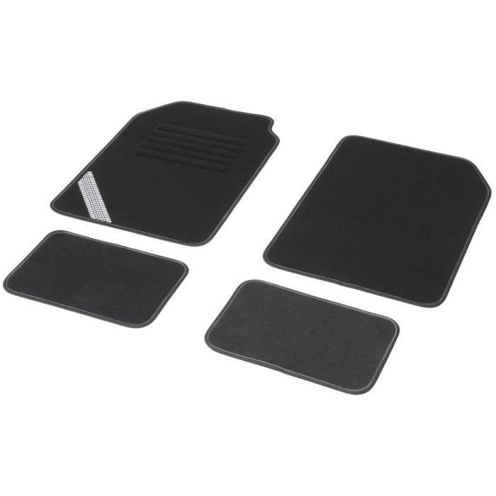 DBS Jeu de 4 tapis universels DRIVE ganse noir et gris