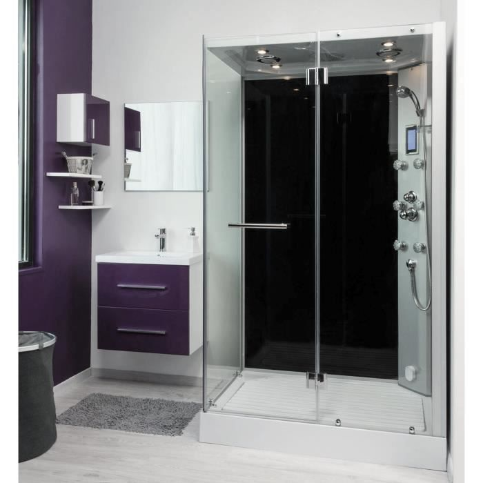 Cabine de douche hydromassante fiza 120x80cm