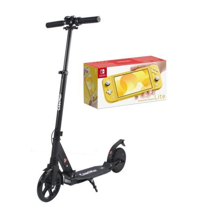 Pack NINTENDO Switch Lite Jaune + CROSWAY Trottinette assistance électrique 8\