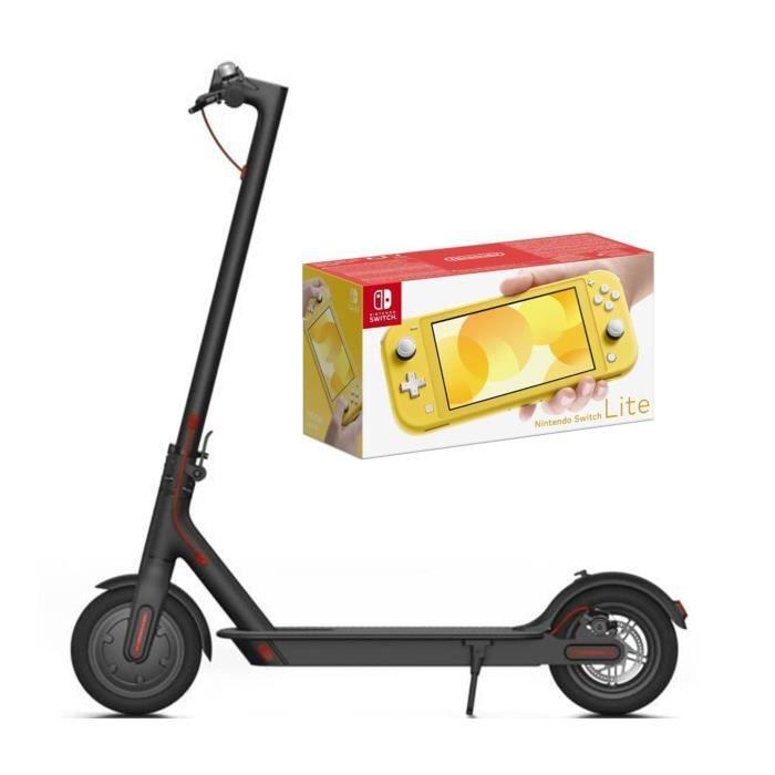 Pack nintendo switch lite jaune xiaomi trottinette électrique m365 250w 8 ah noir