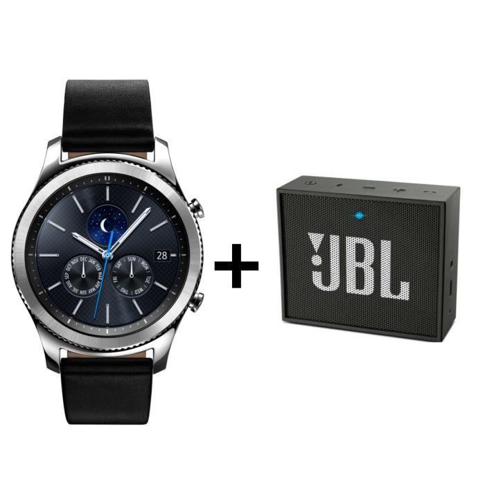 Samsung Gear S3 Classic + 1 enceinte JBL GO