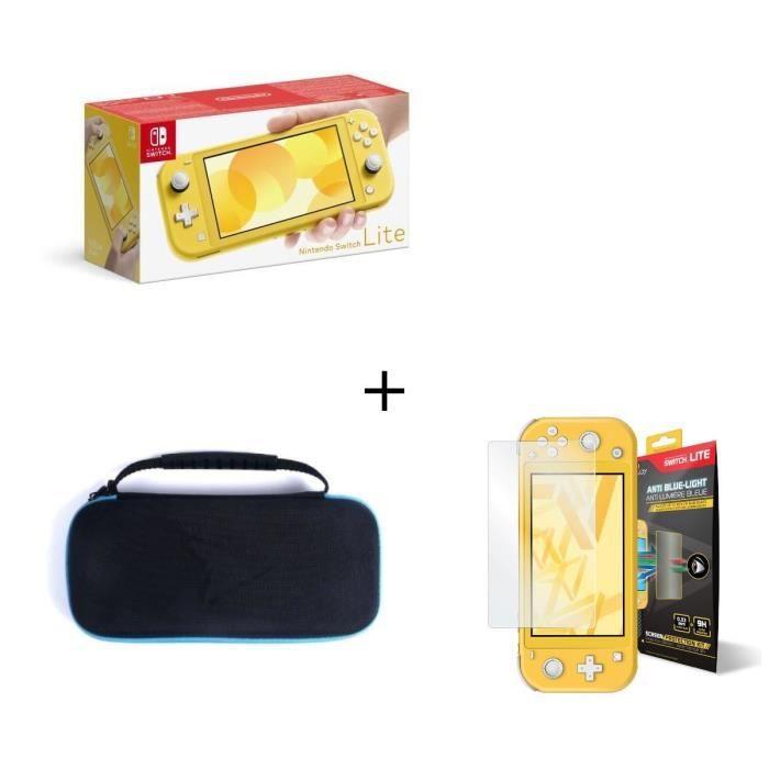Nintendo switch lite jaune housse switch lite verre anti lumière bleue switch lite
