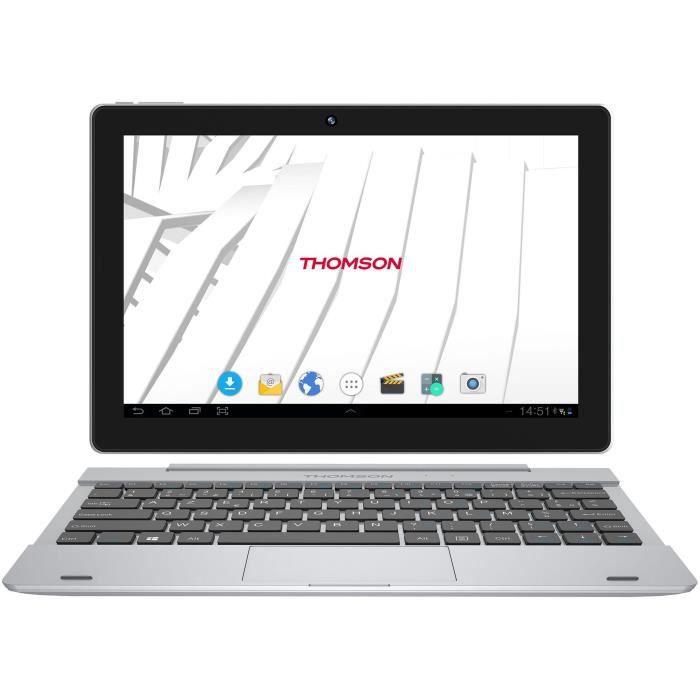 THOMSON Tablette 2en1 - HERO10RK1BK16 - Ecran 10,1'' - 1Gb RAM - Android 7.1 - 16 Gb eMMC