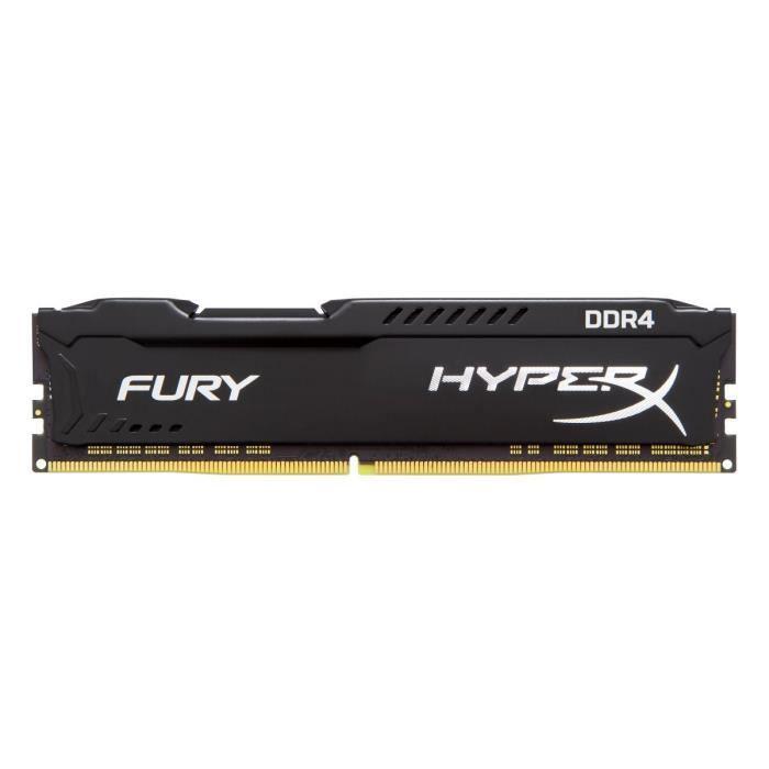 HYPERX Mémoire PC FURY Black - 8Go - DDR4 - 2133MHz - CL14 - DIMM