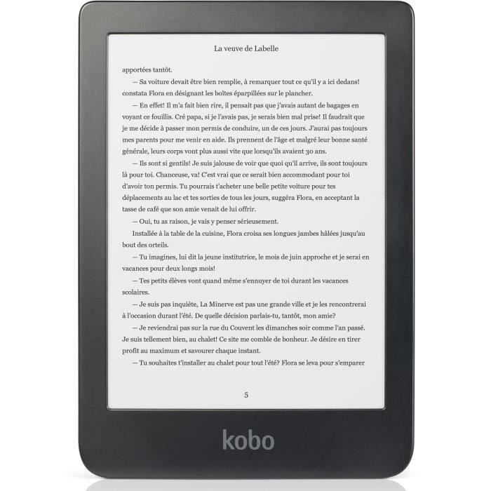 KOBO Liseuse ebook CLARA - Ecran 6 pouces HD - Stockage 8Go