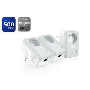 TP-LINK Kit de 3 CPL 500 Mbps avec prise- PA4015PKIT-AV600 1 port ethernet