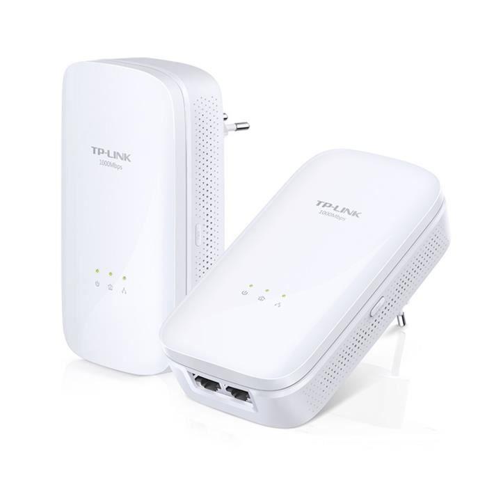 TP-Link Kit de démarrage Powerline Gigabit Passthrough à 2 ports AV1000