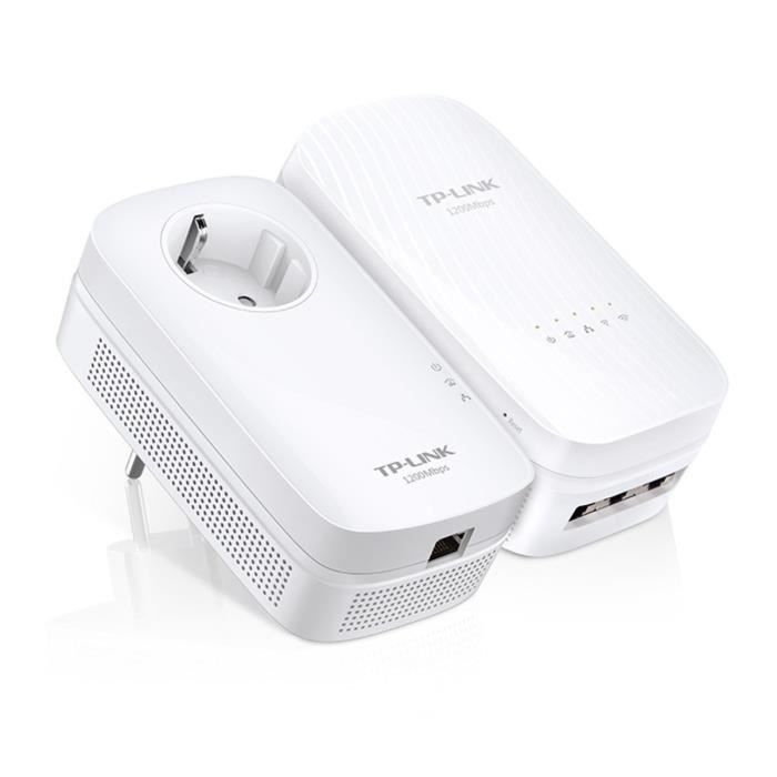 TP-LINK - TL-WPA8730 - KIT AV1200 Wi-Fi AC 1750Mbps Pack de 2 Adaptateurs CPL