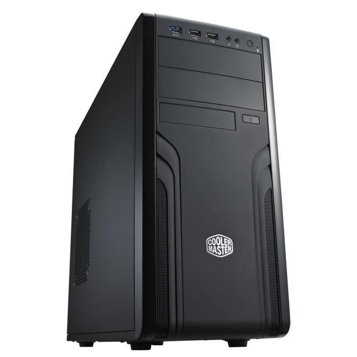 COOLER MASTER Boitier PC Force 500 - Moyen Tour - ATX - USB / Audio - Noir