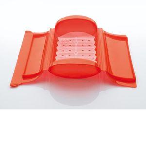 WPRO LSC200 Coffret papillote rouge en silicone avec filtre pour 1-2 pers