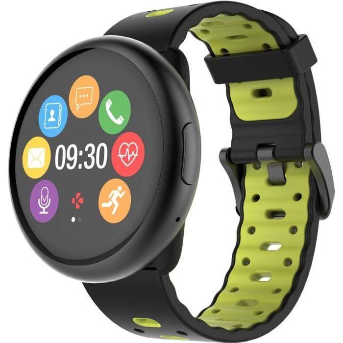 Ecran tactile TFT 1.22 inches - Bluetooth 4.0BLE + 3.0 - Temps d'appel 2.5h - Autonomie en veille 3 jours - Mémoire 256 Mb/RAM 64 Mb - Accéléromètre tri-axial - Capteur optique de rythme cardiaque - Résistance à l'eau IP67MONTRE BLUETOOTH - MONTRE CONNECT