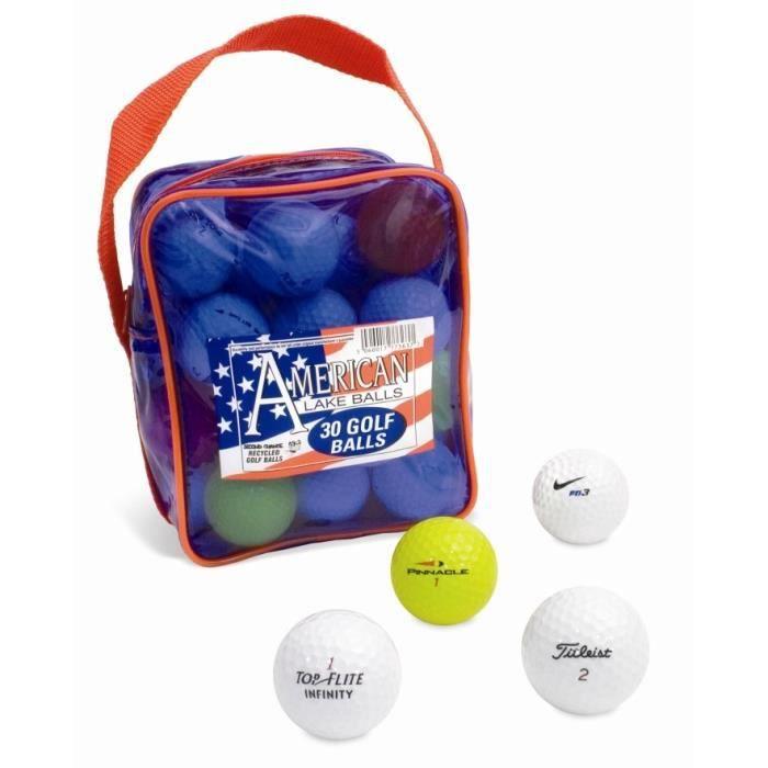 Second chance lot de 30 balles et tees de golf en pochette multicolore