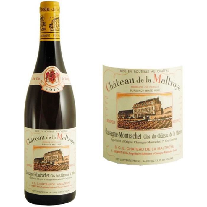 Château de la Maltroye - Chassagne Montrachet 1er cru - Grand Vin de Bourgogne - 2011 - Vin BlancVIN BLANC