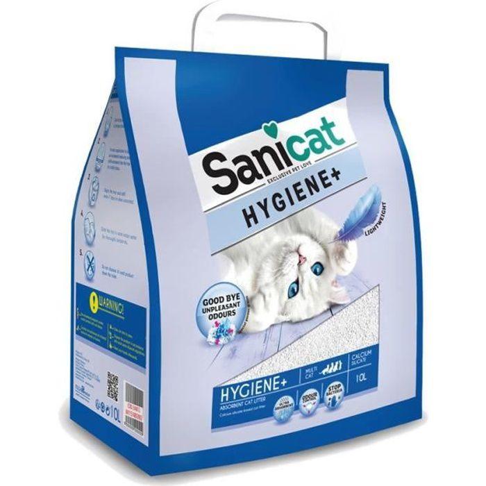 SANICAT Litière Hygiene+ 10L - Pour chat