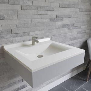CREAZUR Plan simple vasque Blanc 60cm