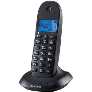 Motorola C1001LB+ Solo Téléphone Sans Fil Sans Répondeur Noir