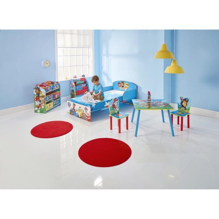 PAT PATROUILLE - Chambre Enfant complète (lit, table, 2 chaises, bibliothèque, meuble de rangement et veilleuse pour enfant)