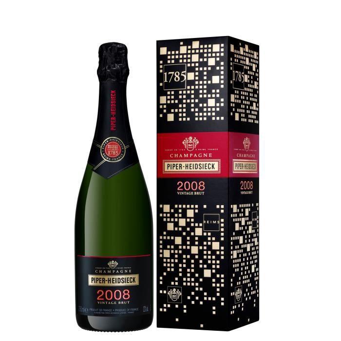 Piper heidsieck brut millesime signature 2008 champagne 75 cl 12° etui