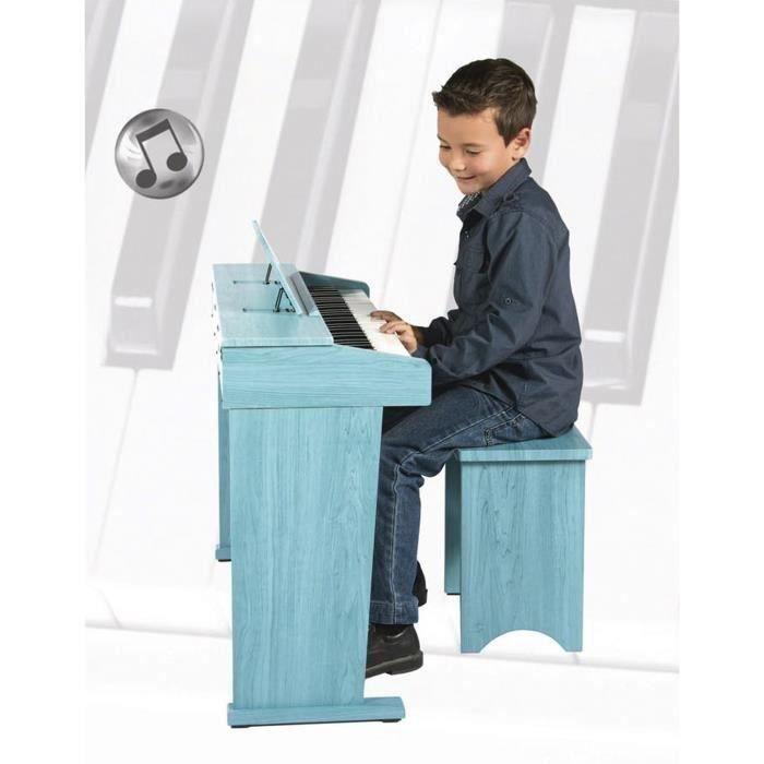 ARTESIA Piano numérique enfant junior 61 touches bleu