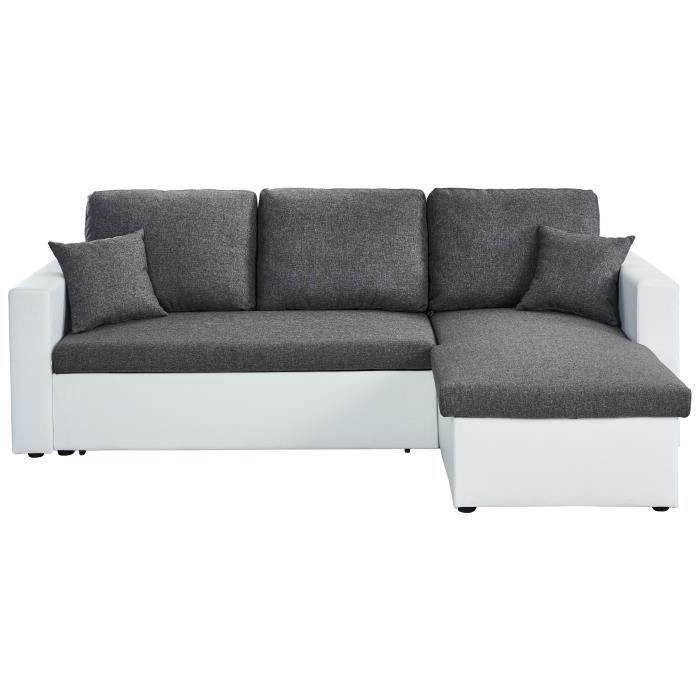 59 sur aspen canap d 39 angle r versible convertible 4 places tissu gris chin contemporain. Black Bedroom Furniture Sets. Home Design Ideas