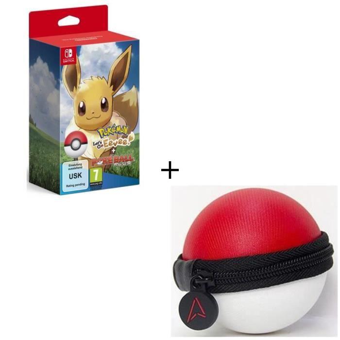 Pokémon : Let's Go, Evoli ! + Pokéball Plus sur Nintendo Switch + Housse de protection pour Pokeball - Switch