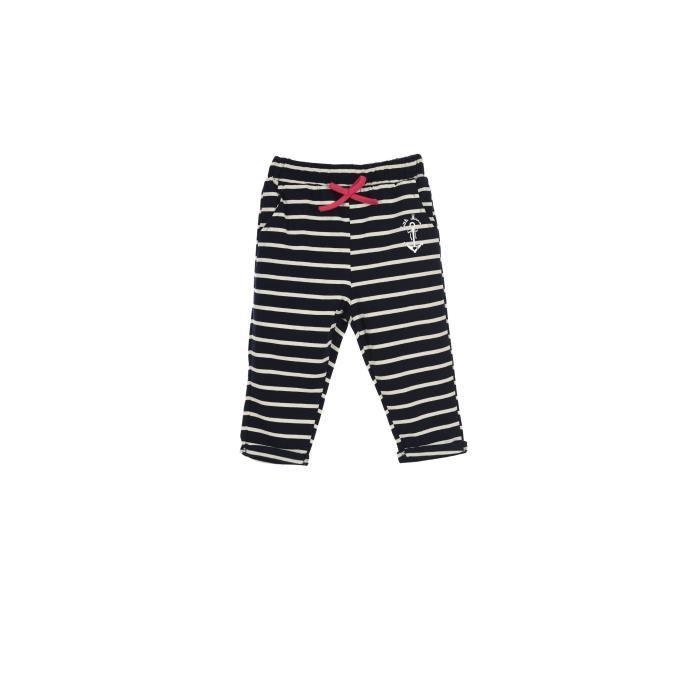 LITTLE MARCEL Pantalon Jogging Bleu Marine Bébé Fille