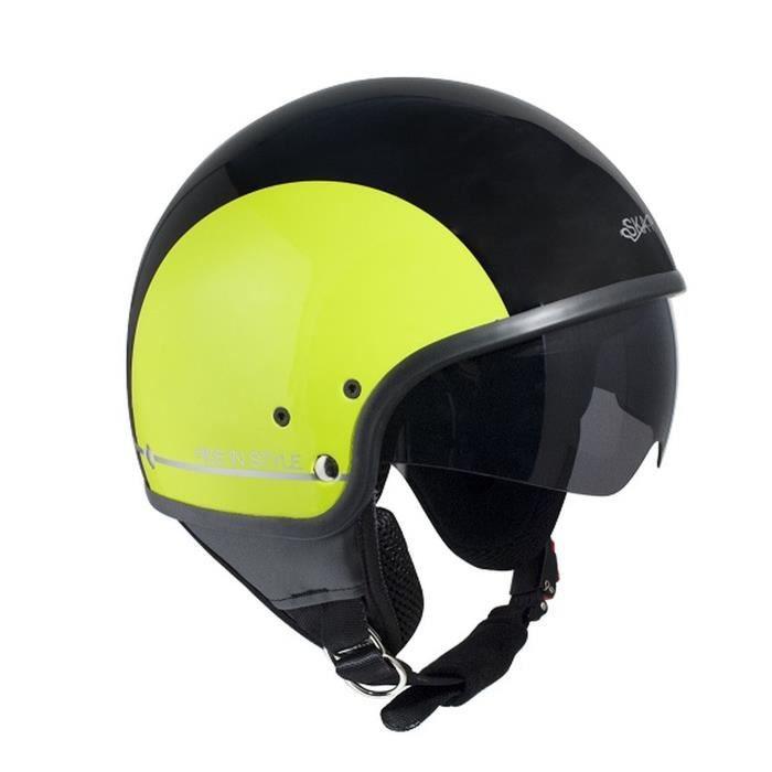 SKAP Casque jet Slim Bico - Noir et jaune