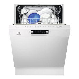 Lave-vaisselle encastrable-Capacité: 13 couverts-Classe énergétique A+-Niveau sonore max: 45dB-Efficacité lavage/séchage: A/A -Affichage LED Ambre - Départ différé 24h- Stabilité de vos verres et tasses assurée avec soft spikes-Fonction Auto-off-Affichage