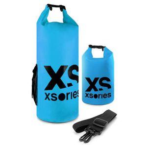 XSories - STUFFLER 8L - Sac étanche en PVC, fermeture roll-top et clip, poche interne et bandouli?re, 8 litres, Bleu