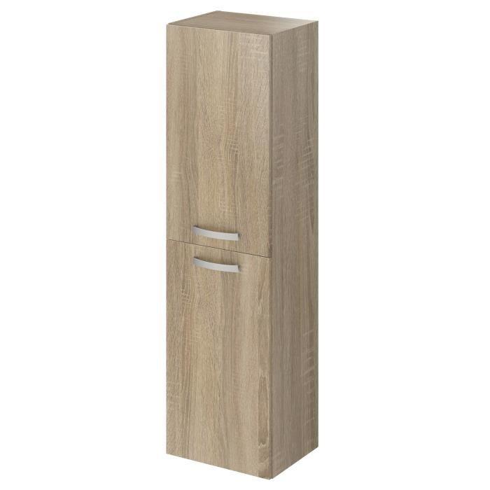 STELLA Colonne de salle de bain L 40 cm - Décor chêne