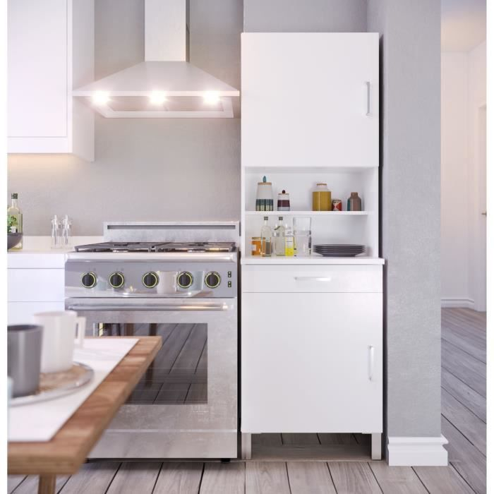 ECO Buffet de cuisine L 60 cm - Blanc mat