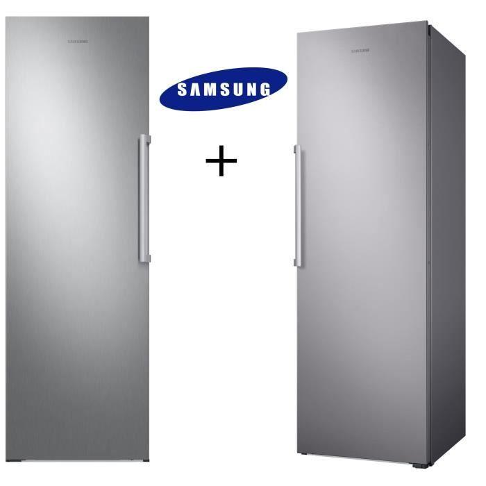 PACK FROID SAMSUNG RR39M7000SA Réfrigérateur 385 L-Froid ventilé intégral + RZ32M7000SA Congélateur