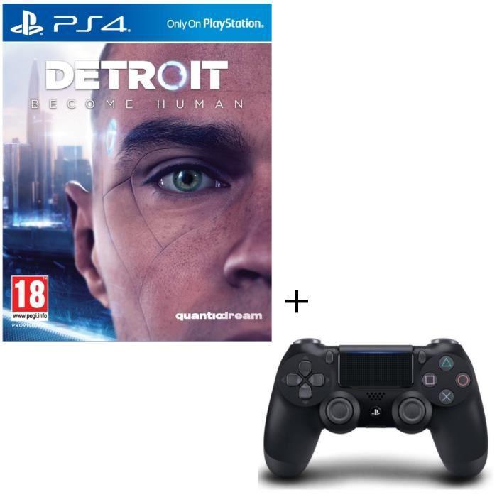 Pack Detroit Become Human + Manette DualShock 4 Noire