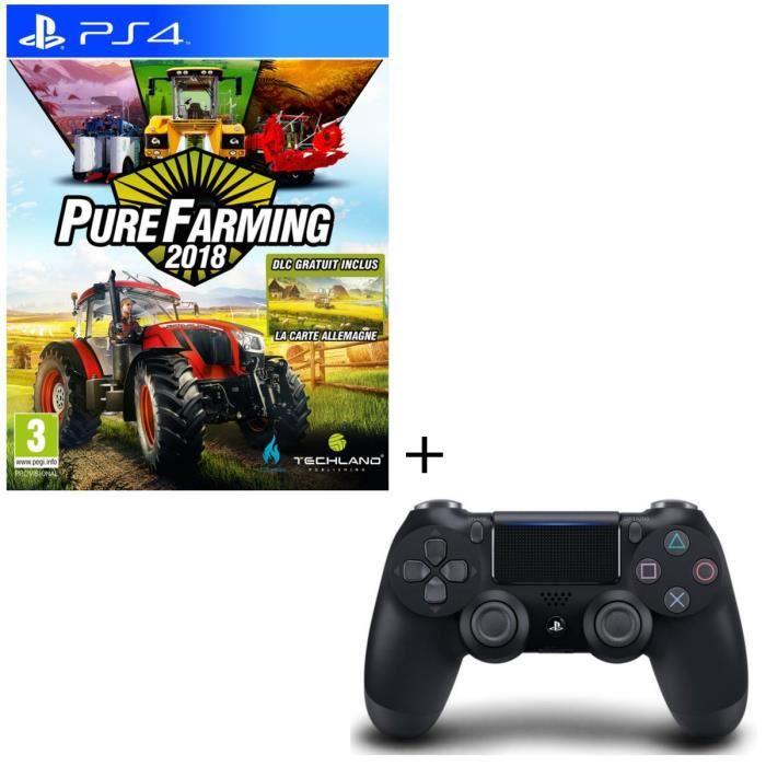 Pack Pure Farming 2018 Day 1 Edition Jeu PS4 + Manette DualShock 4 Noire