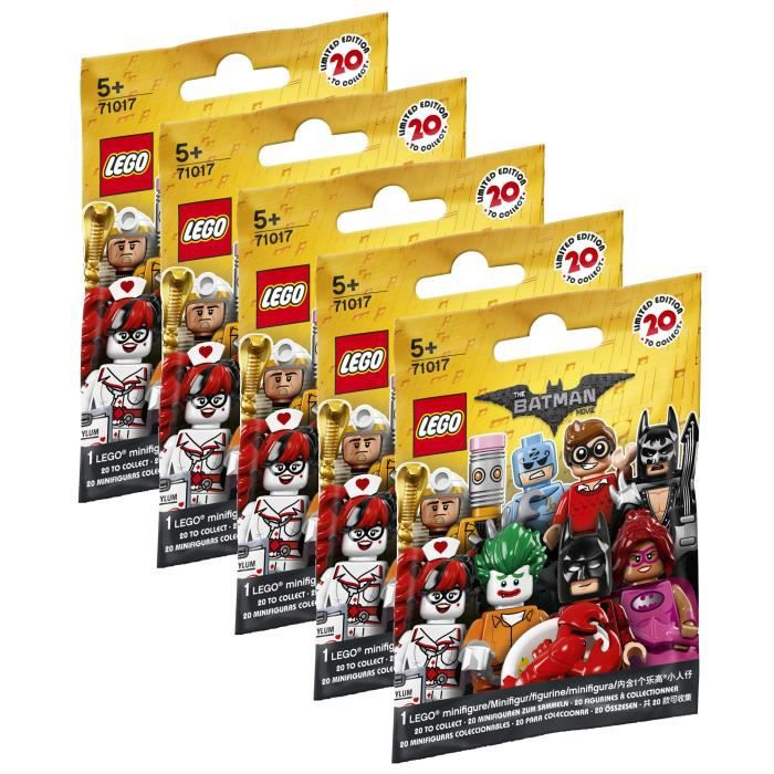LEGO® Minifigures 71017 Batman Movie - Lot de 5 Sachets Batman